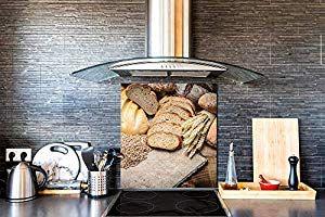 Photo backsplash BS11 Wood and Wall Textures Series Dark Wood Glass Kitchen backsplash Tempered Glass splashback
