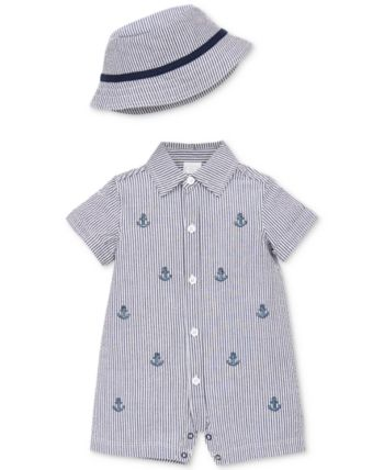 Little Me Baby Boys Romper and Hat