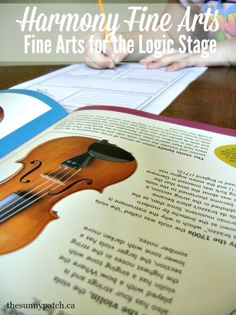 Harmony Fine Arts Review- Logic Stage art and music appreciation at the Sunny Patch.