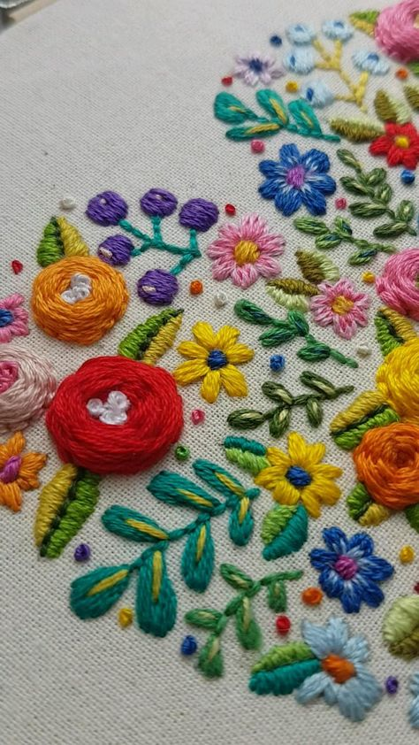 Floral Heart Printable Embroidey Pattern.