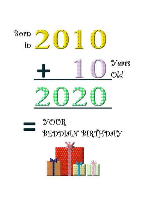 Beddian Birthday 2020 Born In 2010 10 Years Old Adding Up Numbers Card Ad Affiliate Born Beddian Birthda In 2020 Birthday Quotes Business Blog 10 Year Old