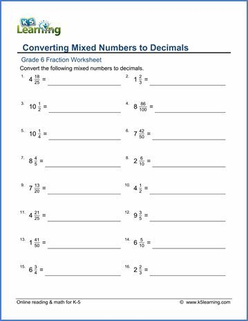 30 Converting Mixed Numbers To Improper Fractions Worksheet In