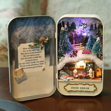 Handcraft Miniature Project Kit Puppenhaus Die Tin Series Box Theatre