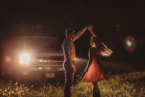 Seward, Ne photographer Native Roaming, captures the perfect midwest date night in these fun Nebraska engagement photos.