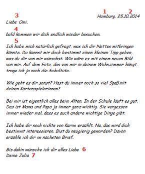 Einen Privaten Brief Schreiben Beispiel Fur Den Aufbau Briefe Schreiben Deutsch Unterricht Deutsch Lernen