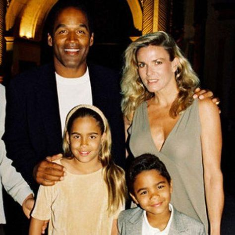 O.J. Simpson with wife Nicole Brown Simpson and kids Sydney Brooke Simpson and Justin Simpson