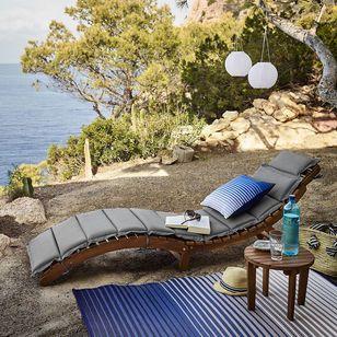 Sonnenliege Mit Auflage Klappbar Fsc 100 L 184cm Natur 119 Sonnenliege Balkonmobel Garten