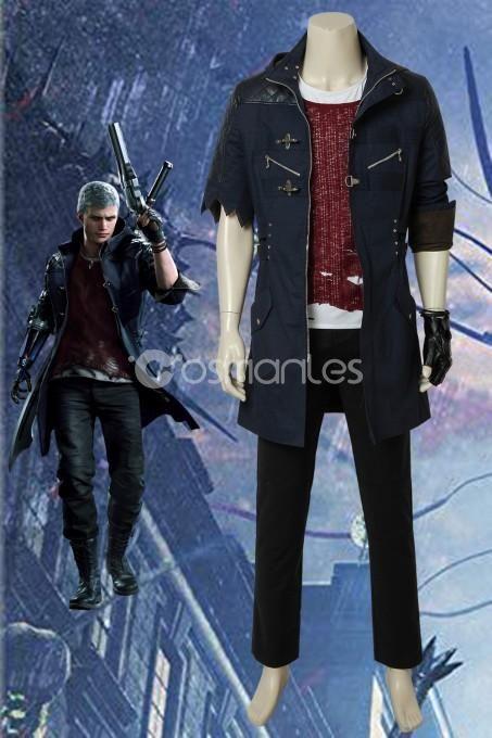 Nero DMC5 Devil May Cry V NERO Outfit Costume Cosplay Jacket Halloween Men Coat