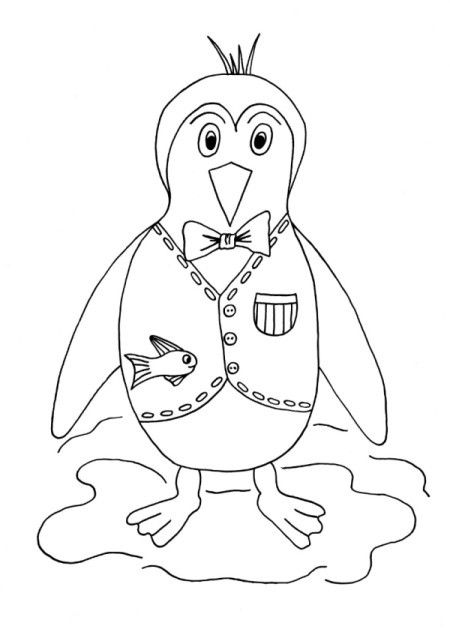 Happy Penguin Kids Coloring Page Coloring Pages Coloring For Kids Coloring Pages For Kids