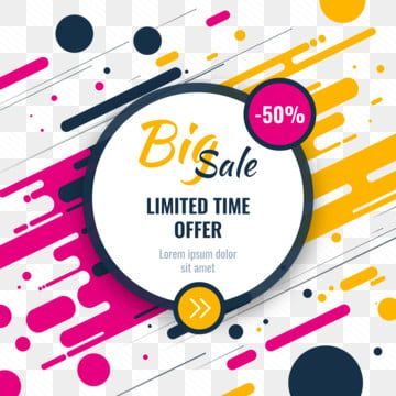 Modern Colorful Special Marketing Sale Discount Advertising Summer Decoration Sales Png And Vector With Transparent Background For Free Download Banner Template Design Instagram Design Sale Banner