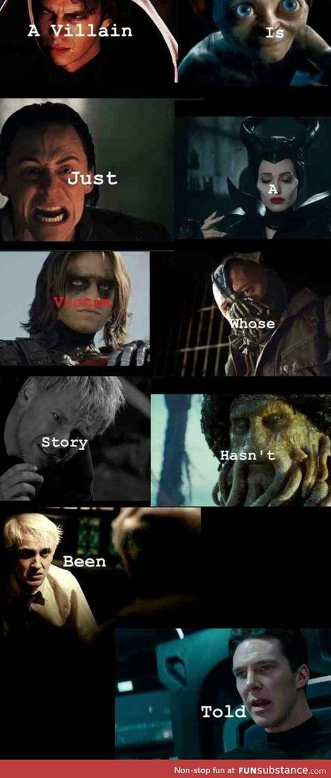 Why I love villains - FunSubstance
