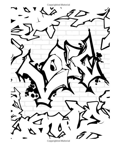 Amazon.com: Street Art Coloring Book for Adults: 24 illustrated graffiti designs for adults (9781535241823): O.G. Tagger: Books