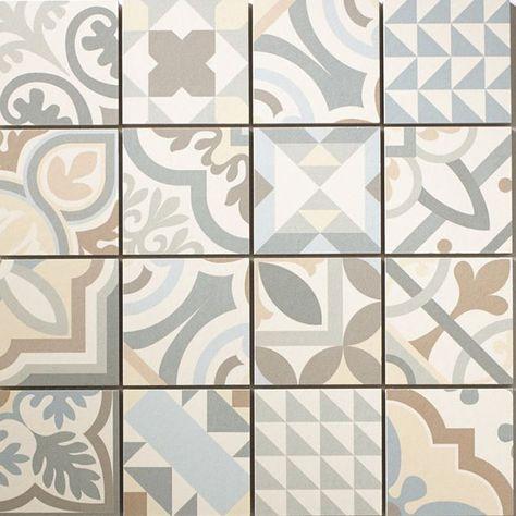 Mosaique Ciment Blanc Noir 30 X 30 Cm Castorama Carreau De