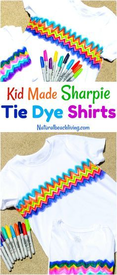 How to Make Sharpie Tie Dye Shirts - Easy Tie Dye Shirts for Kids - Natural Beach Living
