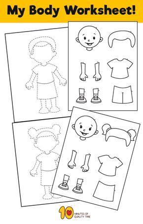 Pin On Ihmiset Parts of body preschool worksheet