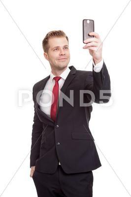 Handsome Businessman Taking A Selfie Stock Image 33821721