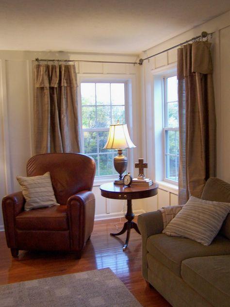 bedroom design ideas corner window window treatments sewing pinterest hang curtains window and bedroom window treatments