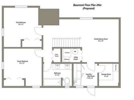49 New Ideas For House Plans With Basement Apartment Stairs Basement Floor Plans Basement Layout Basement Flooring