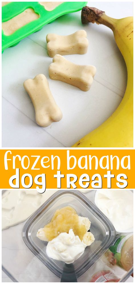 Frozen Banana Dog Treats