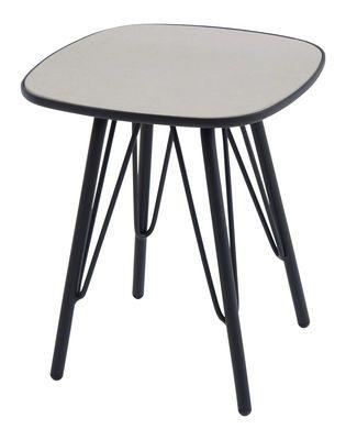 Lyze Beistelltisch Tischplatte Aus Faserzement 40 X 40 Cm Emu Schwarz Hellgrau Couchtisch Couchtisch Buche Massiv Couchtisch Buche