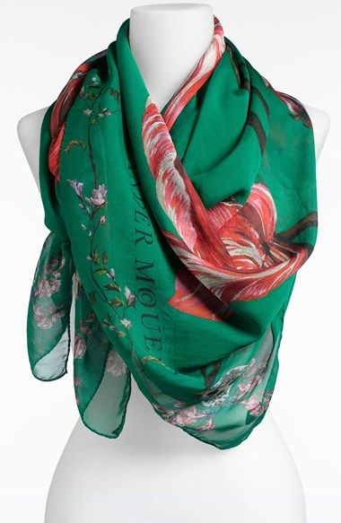 Free shipping and returns on Alexander McQueen 'Tulip Skull' Scarf at Nordstrom.com. Signature skulls haunt painterly blooms on a filmy silk-chiffon scarf.