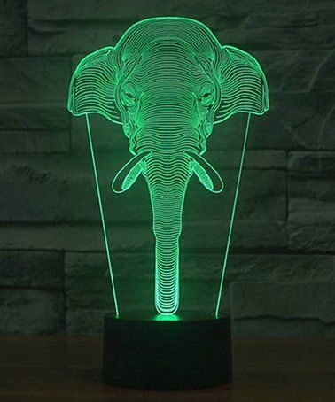 Love This Elephant 3d Optical Illusion Color Changing Led Night Lamp On Zulily Zulilyfinds Led Night Lamp Elephant Decor Color Changing Led