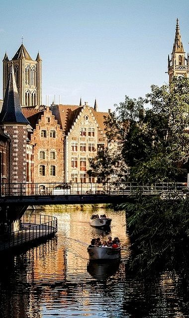The city of Ghent ~ is one of Belgium's most beautiful communities.