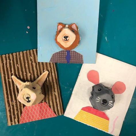 Egg Carton Art, Egg Carton Crafts, Egg Cartons, Preschool Art, Craft Activities For Kids, School Art Projects, Art Lessons Elementary, Recycled Art, Art Classroom