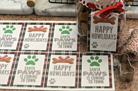Homemade dog treats are easier than you'd think and make a terrific homemade Christmas gift paired with our FREE printable doggy gift tags!