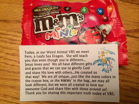 Day two Volunteer thank you note Weird Animals VBS 2014 UMC - volunteer thank you letter