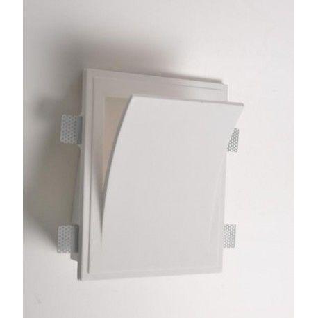 Lampadine Led X Faretti.Mw8401 Faretto In Gesso Muro Da Parete A Scomparsa X Lampade