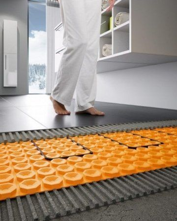 Elektrische Vloerverwarming Schluter Ditra Heat Mrwoon Vloerverwarming Vloerverwarming Huisdesign Vloeren