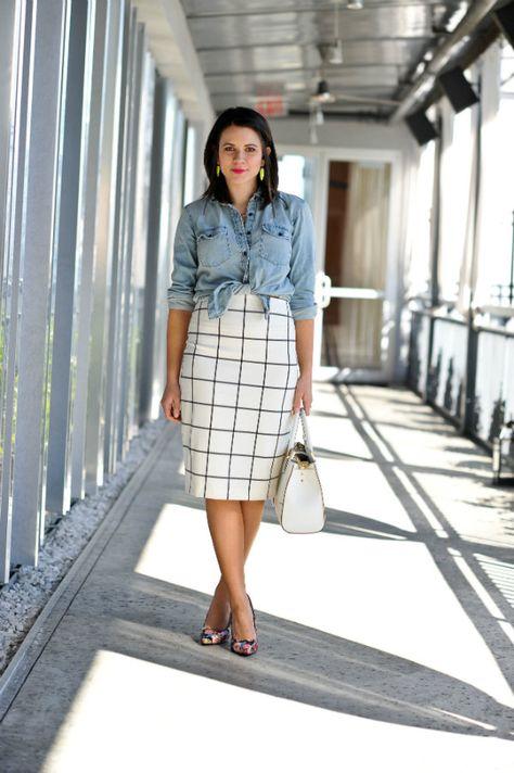 1cab963f71aa Express Windowpane skirt 4 via  My Style Vita