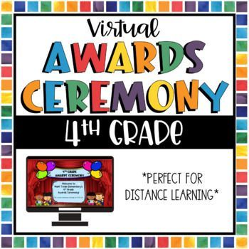 Virtual Awards Ceremony Distance Learning 4th Grade Distance Learning Kindergarten Awards Awards Ceremony