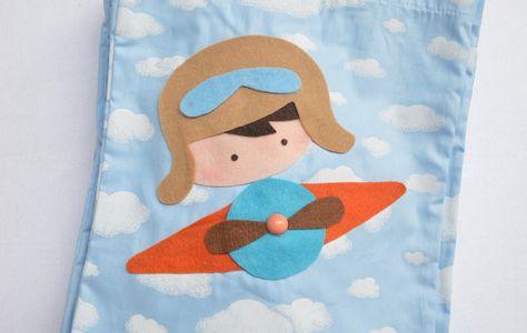 Sacolinha Surpresa Aviador no Elo7   Atelier feito pra você by Ana Ribeiro  (73F670) 1f4e6ba269