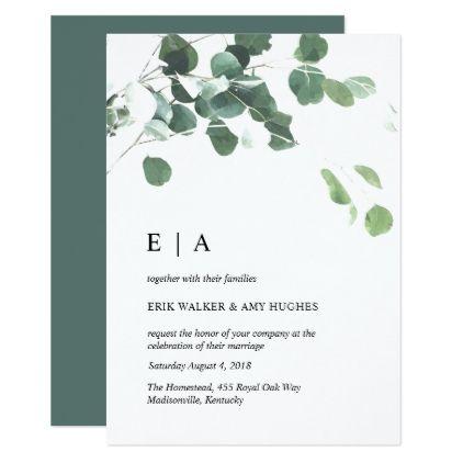 Watercolor Leaves Wedding Invitation Zazzle Com In 2020