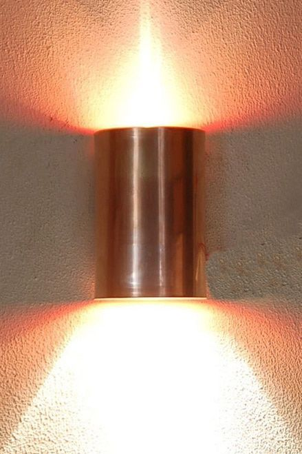 Solid Copper Half Cylinder Wall Sconce Available In Any Size You Wish Choose Up And Down Lighting Or S Copper Wall Light Sconce Lighting Wall Sconce Lighting