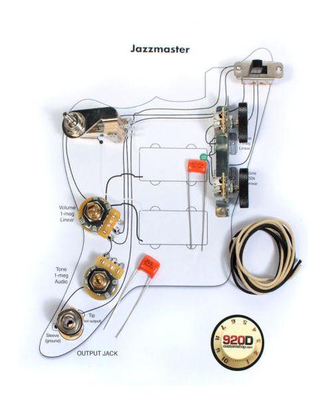 Fender Vintage Jazzmaster Wiring Kit Pots Switch Slider Caps Bracket Diagram Fender Vintage Telecaster Custom Guitar Pickups