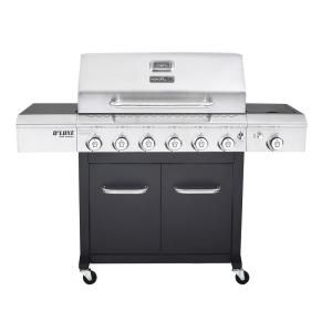 Nexgrill Deluxe 6 Burner Propane Gas Grill In Black With Side Burner J House Items To Purchase Propane Gas Grill Gas Grill Reviews Grilling