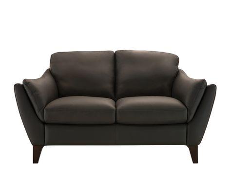 Greccio Leather Loveseat Love Seat