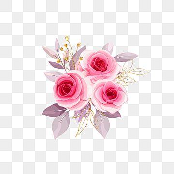 Buque Aquarela Flor Rosa Rosa Rosas Clipart Flor Casamento Imagem Png E Psd Para Download Gratuito Pink Flowers Background Floral Illustrations Flower Painting