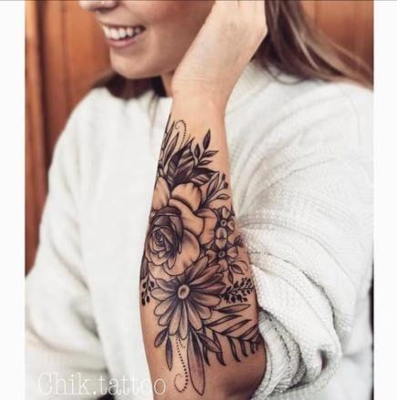 Best Flowers Tattoo Arm Body Art 45 Ideas Bodyart Tattoo