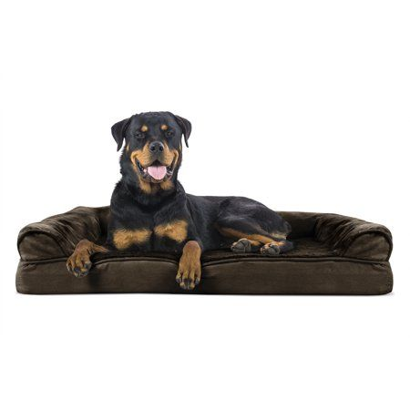 Furhaven Pet Dog Bed Orthopedic Ultra Plush Sofa Style Couch Pet Bed For Dogs Cats Espresso Jumbo Walmart Com Cool Dog Beds Dog Pet Beds Orthopedic Dog Bed
