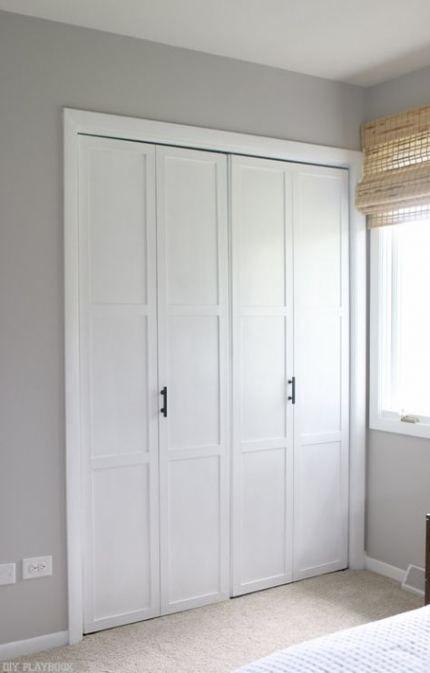 Bedroom Closet Doors Curtains Kitchens 67 Trendy Ideas Closet Door Makeover Old Closet Doors Bifold Closet Doors