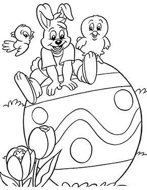 Ausmalbilder Ostern Osterhase Sitzt Auf Einem Ei Ausmalbilder Ostern Malvorlagen Ostern Ausmalbilder