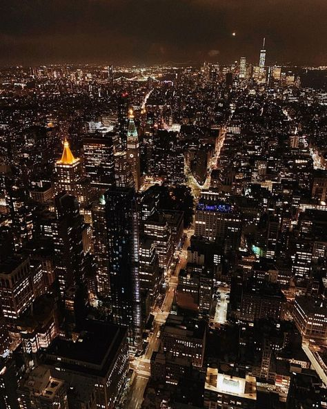 View from the Empire State Building at night. One of the best view of NYC.