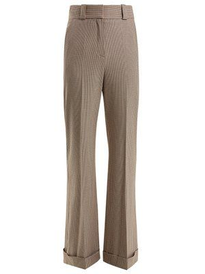 62e27db1d9 Checked wide-leg cuffed trousers | See By Chloé | MATCHESFASHION.COM ...