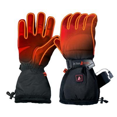 Actionheat Men S X Large Black 5 Volt Battery Heated Snow Gloves Womens Gloves Snow Gloves Heated Gloves