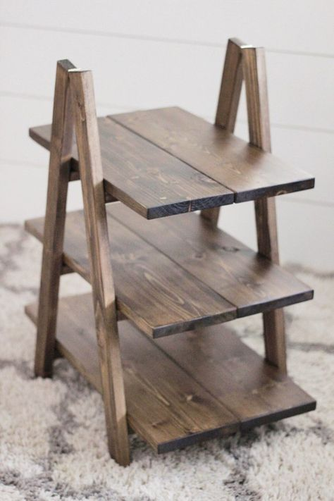 This 3 Tier Wood Stand is perfect for a cupcake display at parties or events, as a tabletop plant stand, or decorative item display. It will fit perfectly into any farmhouse decor or party decoration theme. 64 68 regular sizes cupcakes THE ST 3 Tier Cupcake Stand, Rustic Cupcake Stands, Cupcake Display Stand, Rustic Cupcakes, Rustic Cupcake Display, Cookie Display, Wood Display Stand, Cupcake Wedding Display, Homemade Cupcake Stands