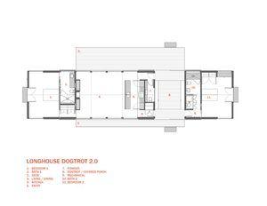 Longhouse Dogtrot 2 Floorplan Jpg Narrow Lot House Plans Architectural Floor Plans House Plans